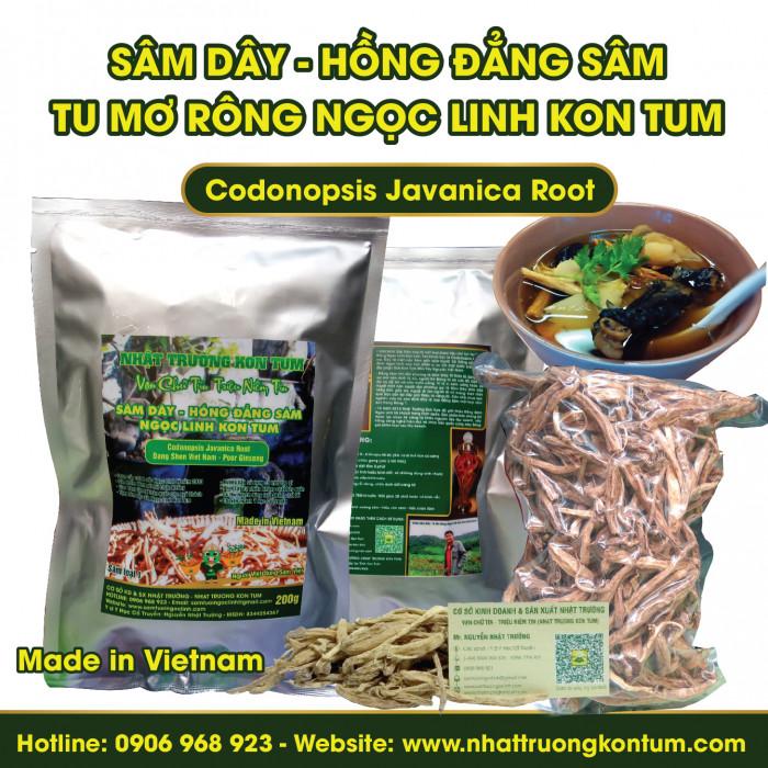 Sâm Dây (Hồng Đẳng Sâm) Tu Mơ Rông Ngọc Linh Kon Tum - Codonopsis Javanica - Loại 3 (Cỡ Nhỏ) - Túi 1kg