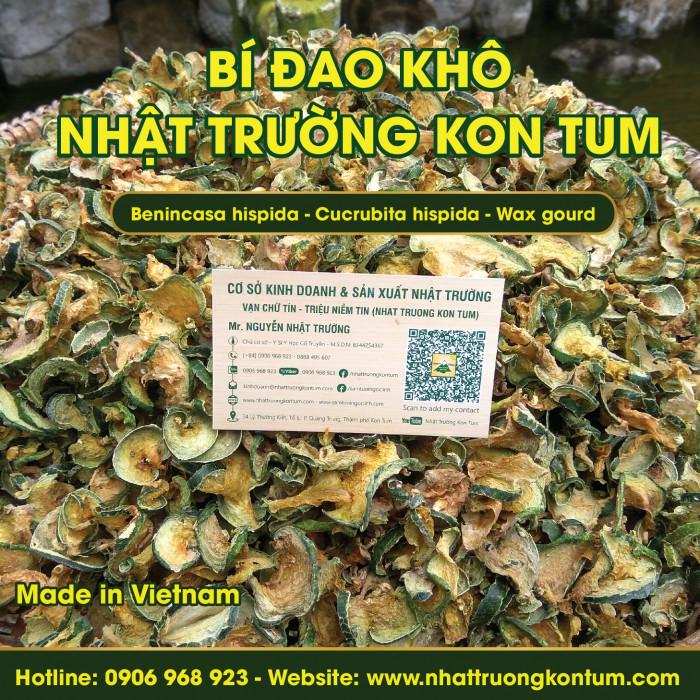 Bí đao sấy khô (sấy lạnh) - Benincasa hispida - Cucrubita hispida - Wax gourd - Túi 1kg