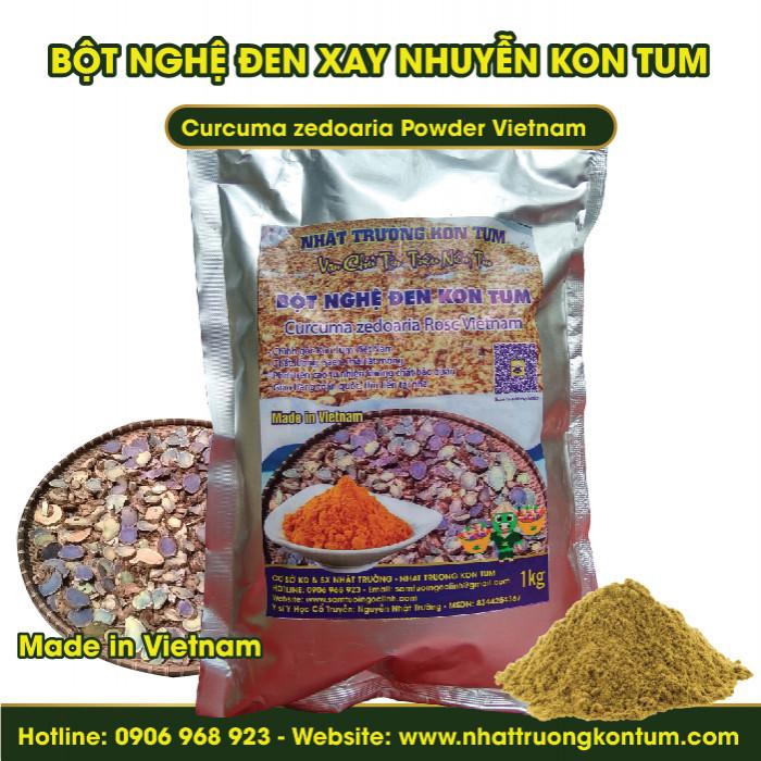Bột Nghệ Đen - Nga Truật - Nghệ Tím Xay Nhuyễn Kon Tum  - Curcuma zedoaria Powder Vietnam - Túi 1kg