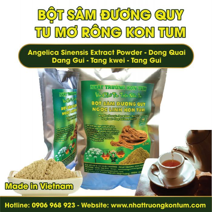 Bột Đương Quy Tu Mơ Rông Ngọc Linh Kon Tum - Angelica Sinensis Extract Powder - Túi 200g