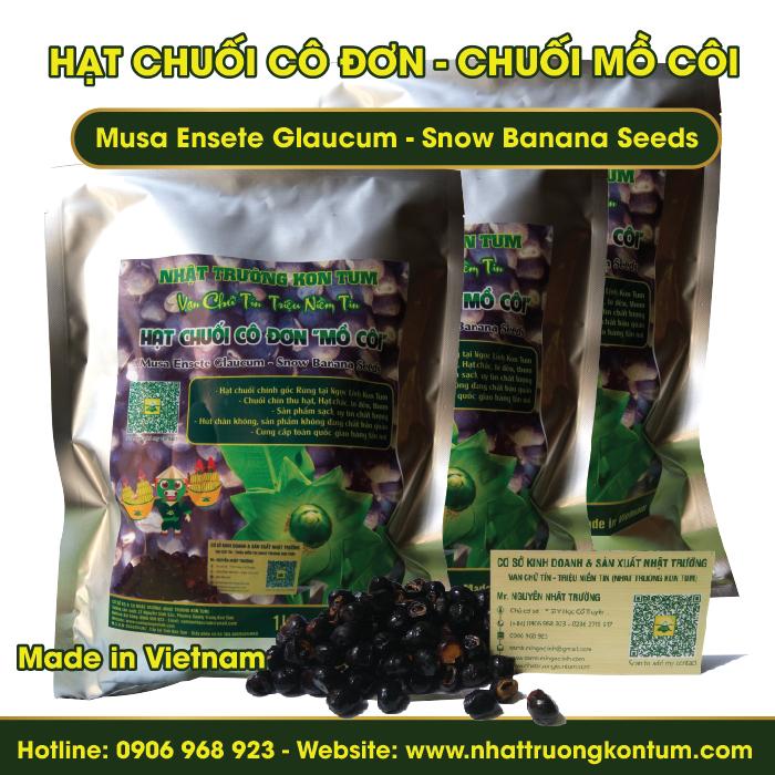 Hạt Chuối Cô Đơn Kon Tum - Musa Ensete Glaucum - Snow Banana Seeds - Túi 1 kg