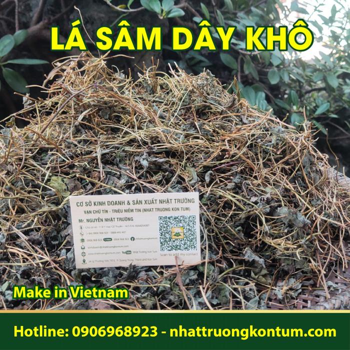 Lá Sâm Dây Khô – Lá Hồng Đẳng Sâm Khô Nhật Trường Kon Tum  - Codonopsis pilosula leaves - Túi 1kg