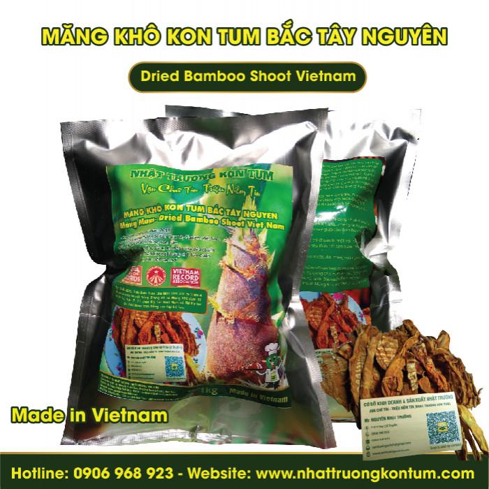 Măng le - Măng Khô Kon Tum Bắc Tây Nguyên - Dried Bamboo Shoot Vietnam - Túi 1kg
