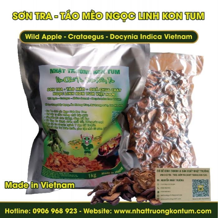Sơn Tra - Táo mèo Tu Mơ Rông Ngọc Linh Kon Tum - Wild Apple - Crataegus - Docynia Indica Vietnam - Túi 1kg