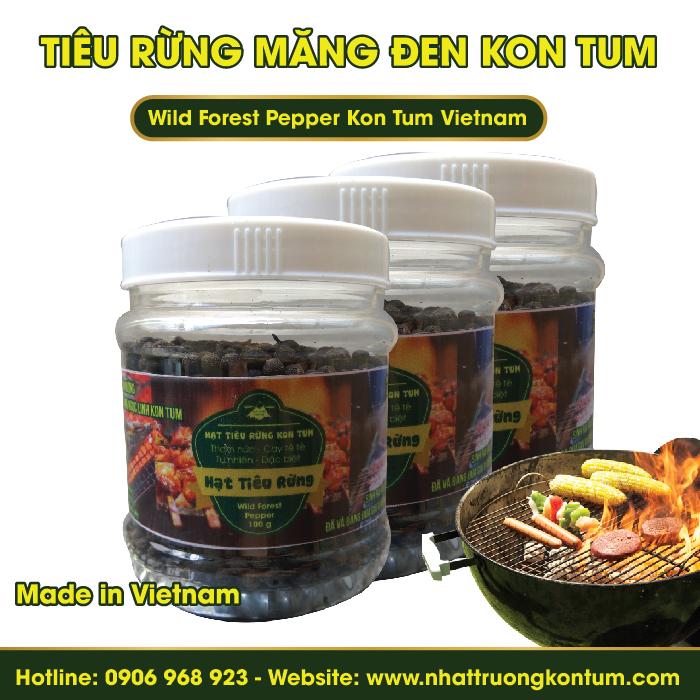 Tiêu Rừng Măng Đen Kon Tum - Wild Forest Pepper Kon Tum Vietnam - Hũ 100g